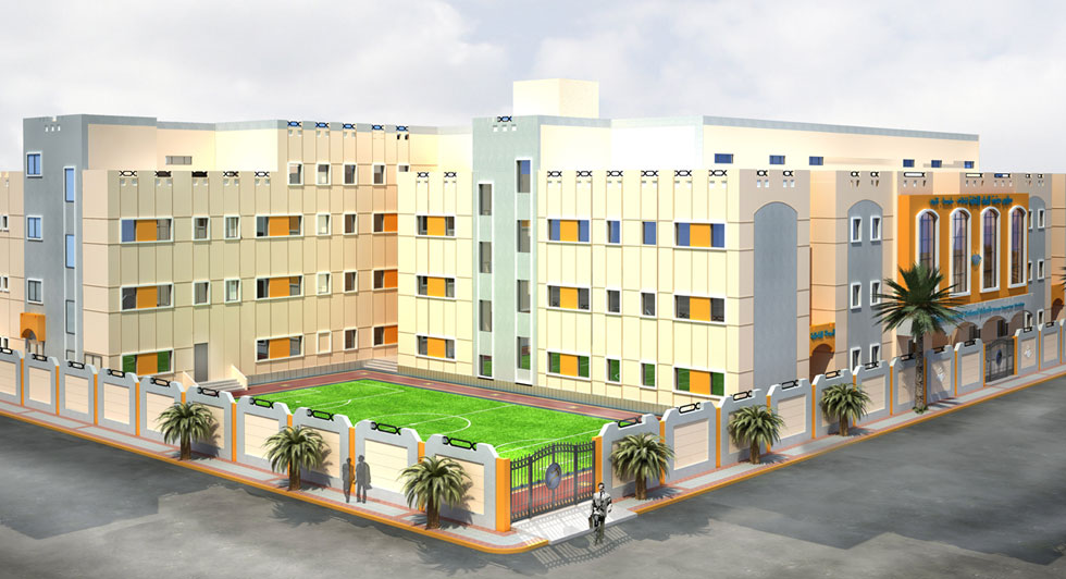Building and constructing buildings for elite pioneers schools for education Building 2